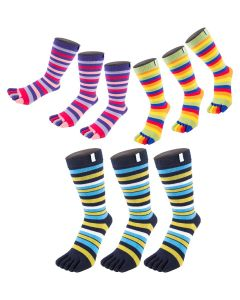9 Pair Pack - Essential - High-Crew Stripy - Mix