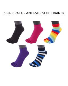 5 PAIR PACK - YOGA & PILATES - ANTI-SLIP MICRO-CREW