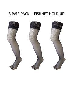 3 PAIR PACK - LEGWEAR - FISHNET HOLDUP