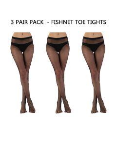 3 PAIR PACK - LEGWEAR - FISHNET TOE TIGHTS