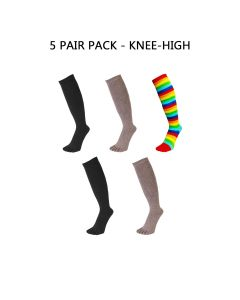 5 PAIR PACK - ESSENTIAL - KNEE HIGH
