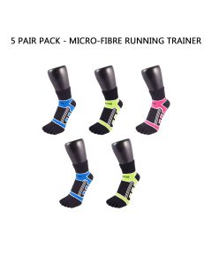 5 PAIR PACK - SPORTS MICRO FIBRE RUNNING MICRO-CREW