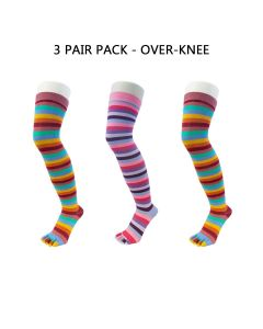 3 PAIR PACK - FASHION - OVER KNEE