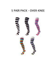 5 PAIR PACK - ESSENTIAL - OVER KNEE