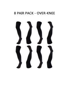 8 PAIR PACK - ESSENTIAL OVER-KNEE