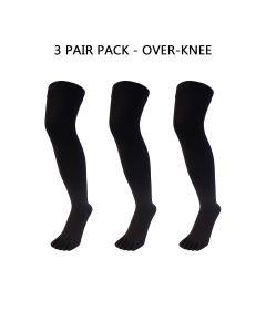3 PAIR PACK - BLACK - OVER KNEE