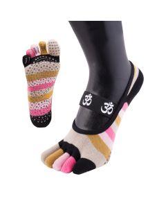 YOGA&PILATES - Anti-Slip Sole OM No-Show - Pink - US M 3.5-6 | F 5-7.5
