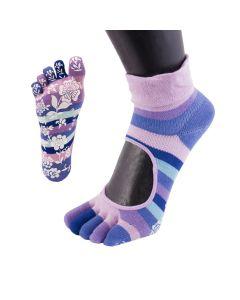 YOGA&PILATES - Anti-Slip Serene Micro-Crew - Pink - US M 3.5-6 | F 5-7.5